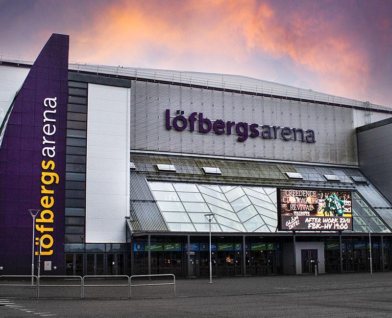 Löfbergs Arena Foto:Bene Riobó (redigerad)